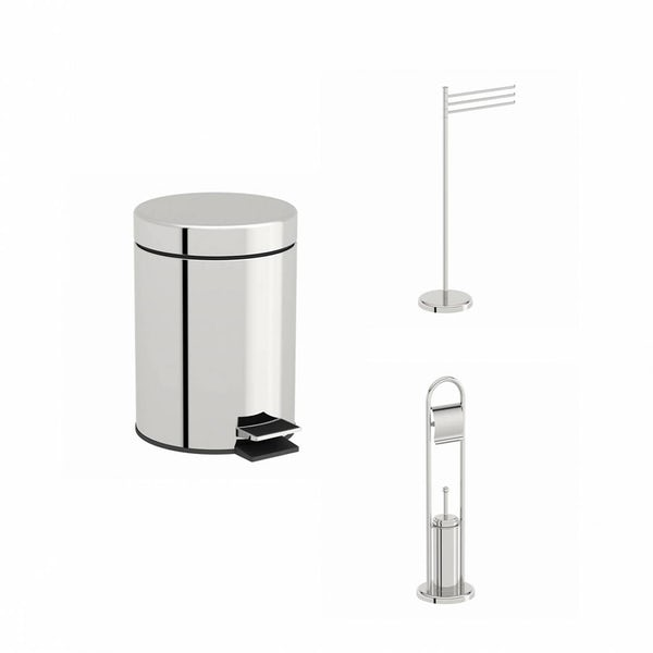 Options Stainless Steel Bathroom Organiser Set