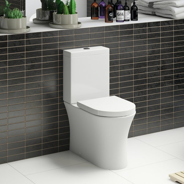Hardy close coupled toilet inc soft close seat