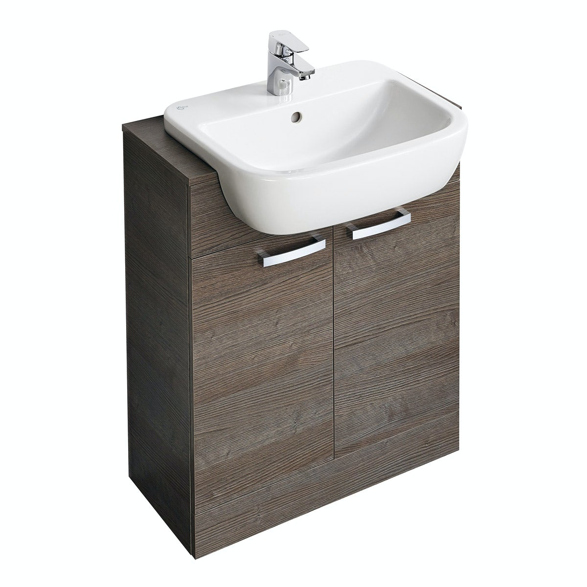 Ideal Standard Tempo sandy grey vanity door unit and basin 650mm