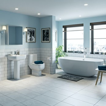 RAK Series 600 and Mode complete freestanding bath suite