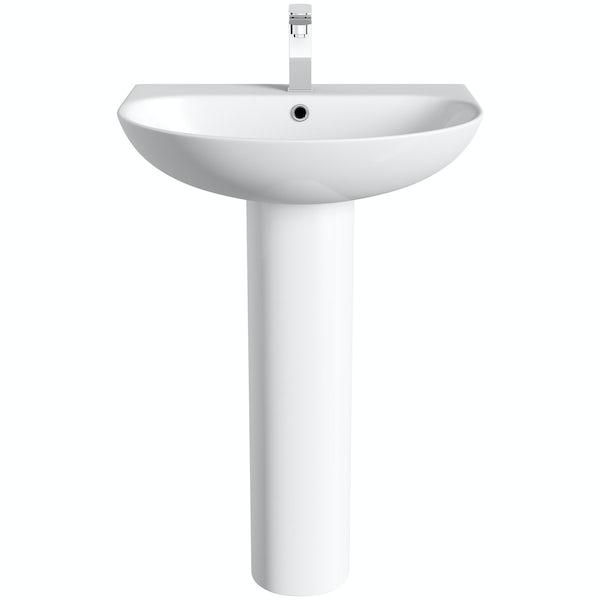Mode Hardy 1 tap hole full pedestal basin 555mm