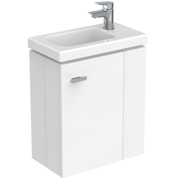 Ideal Standard Concept Space white right handed wall hung vanity unit and basin 450mm