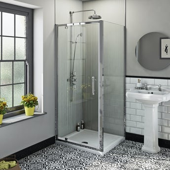 The Bath Co. Winchester traditional 6mm square pivot shower enclosure