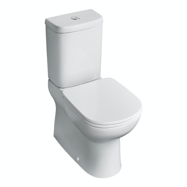 Ideal Standard Tempo short porjection close coupled toilet with soft close seat