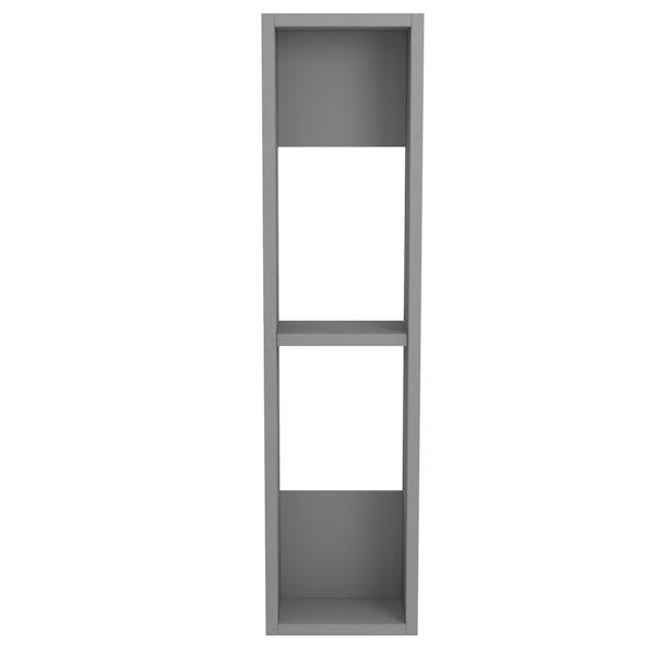 Accents Slimline slate matt wall hung open storage unit 800 x 200mm