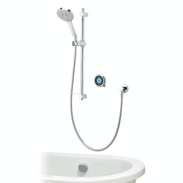 Aqualisa Optic Q Smart concealed shower with adjustable handset and bath overflow filler
