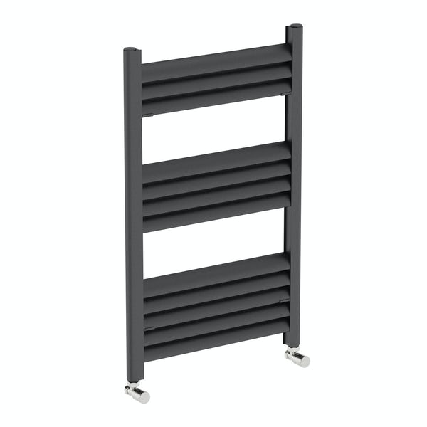 Carter anthracite heated towel rail 800 x 500