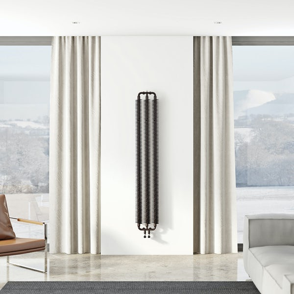 Terma Ribbon meteor black vertical radiator 1720 x 290