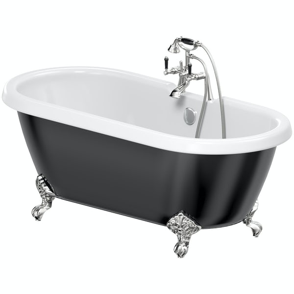 The Bath Co. Dulwich traditional freestanding bath & tap pack with Winchester bath shower mixer