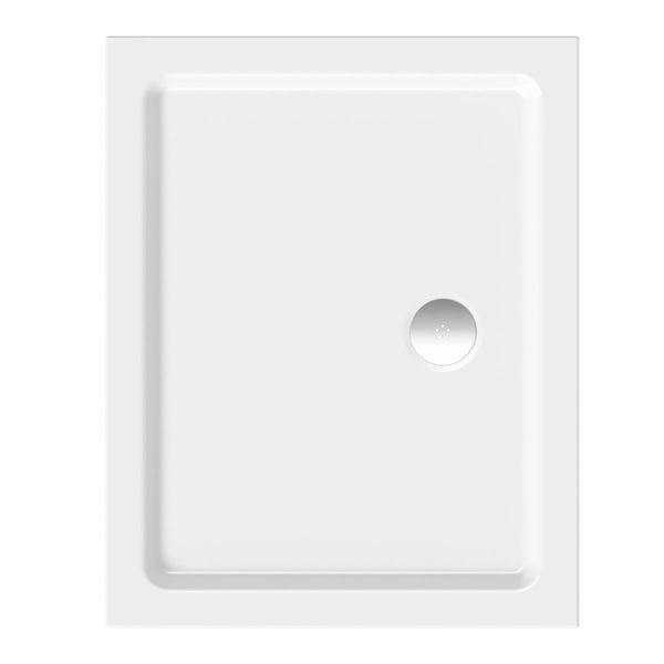 Clarity lightweight rectangular shower tray