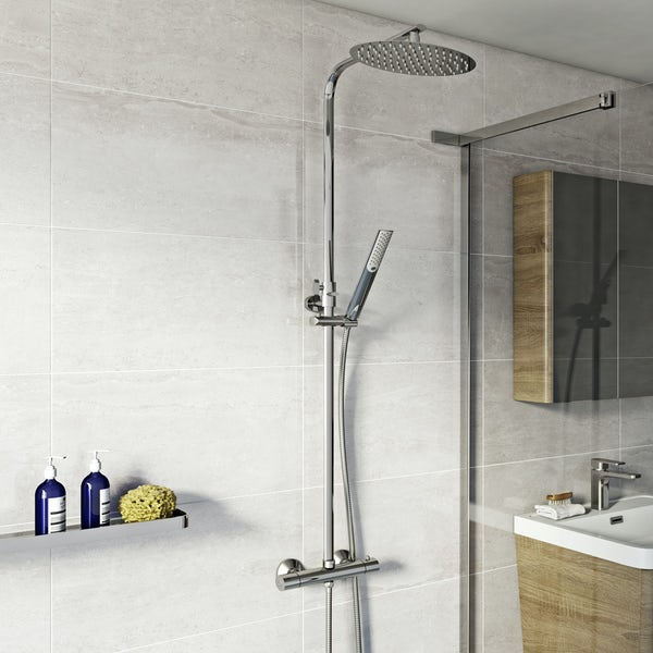 Orchard Wharfe round exposed mixer shower