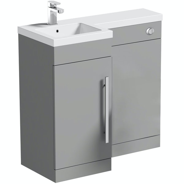 Orchard MySpace slate matt grey left handed combination unit including concealed cistern