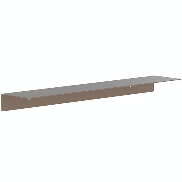 Accents Mono taupe 600mm bathroom shelf