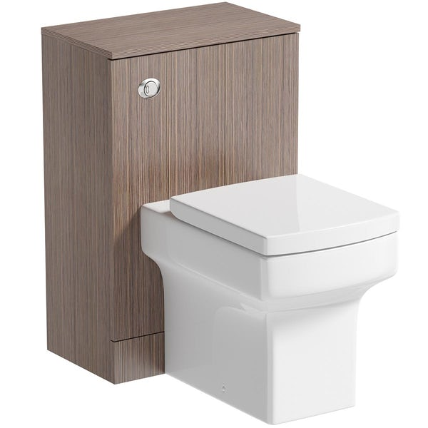 Orchard Wye walnut back to wall unit and toilet with soft close seat
