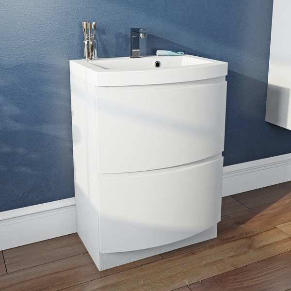 Mode Harrison snow vanity unit and basin 600mm