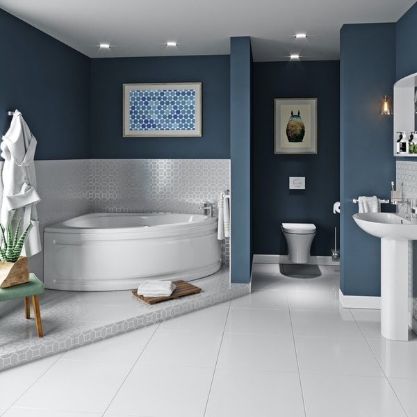 Mode Camden complete left handed corner bath suite