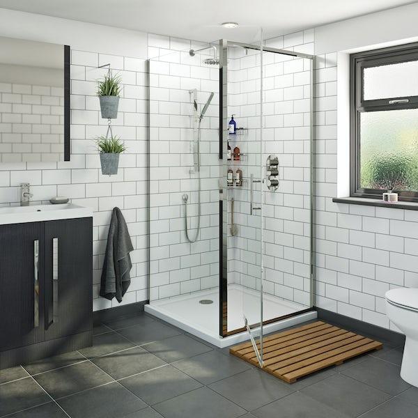 Orchard 6mm pivot hinged square shower enclosure