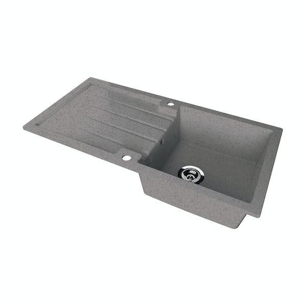 Schon Bosa Cobblestone 1.0 bowl reversible countertop kitchen sink
