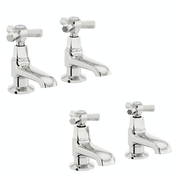 The Bath Co. Beaumont basin and bath pillar tap pack