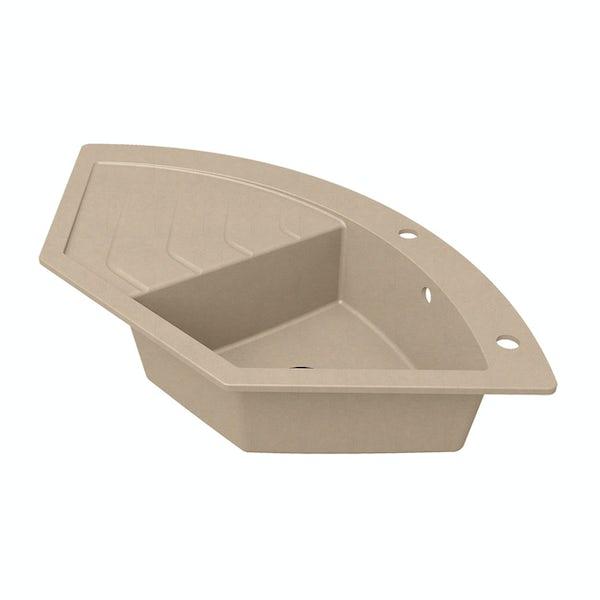 Schon Albro Sand 1.0 bowl reversible countertop kitchen sink