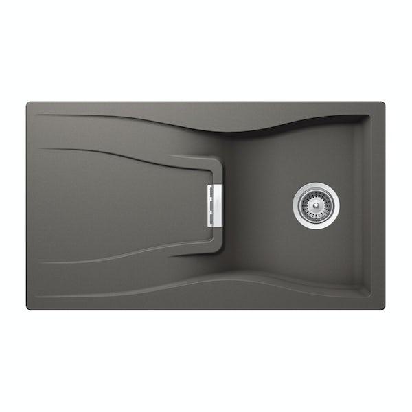 Rangemaster Schock Waterfall 1.0 bowl granite reversible kitchen sink