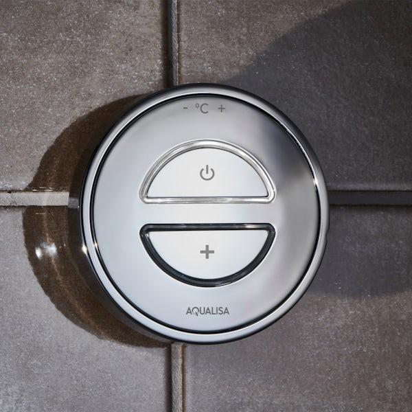 Aqualisa Unity Q Smart concealed shower standard with adjustable handset