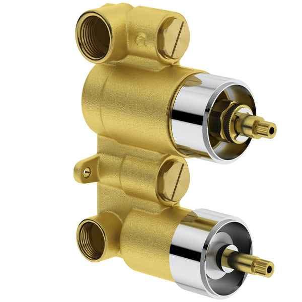 Mode Harrison oval twin thermostatic shower valve with diverter