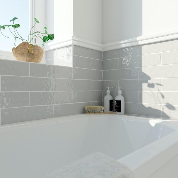 Laura Ashley Artisan french grey wall tile 75mm x 300mm