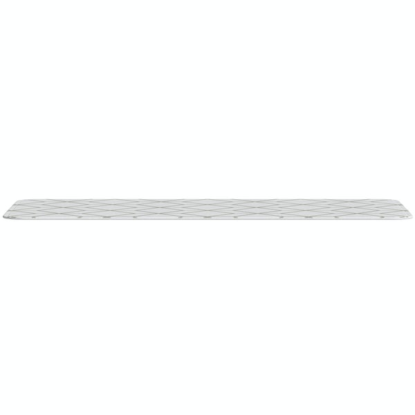 Accents grey flannel printed bath mat