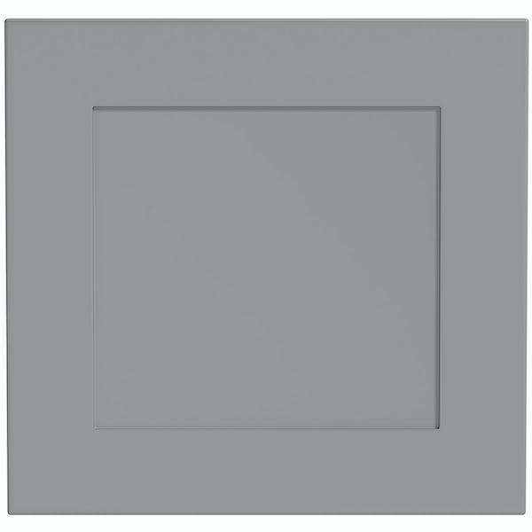 Schön New England light grey 600mm semi integrated dishwasher fascia