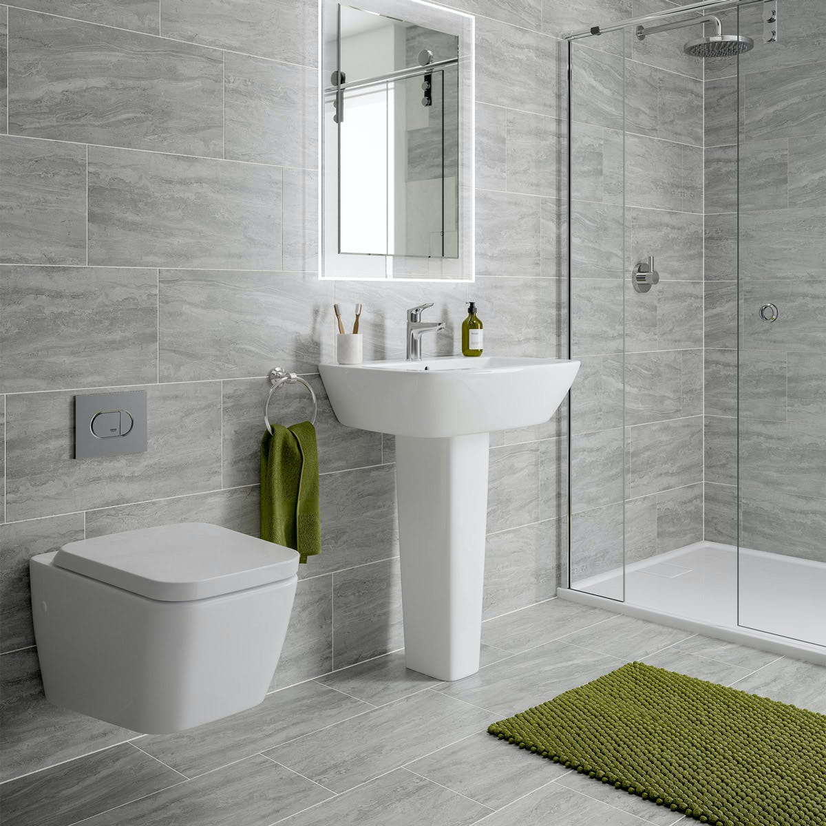 Arctic Grey Marble Effect Matt Wall And Floor Tile 300mm X 600mm Victoriaplum Com