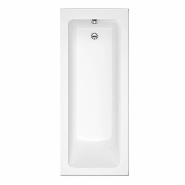 Orchard square edge single ended straight bath with acrylic front panel