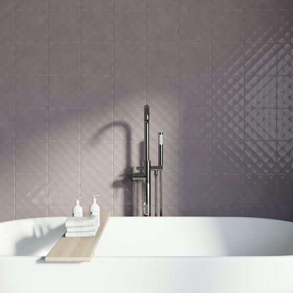 Studio Conran ridge poise gloss tile 198mm x 198mm
