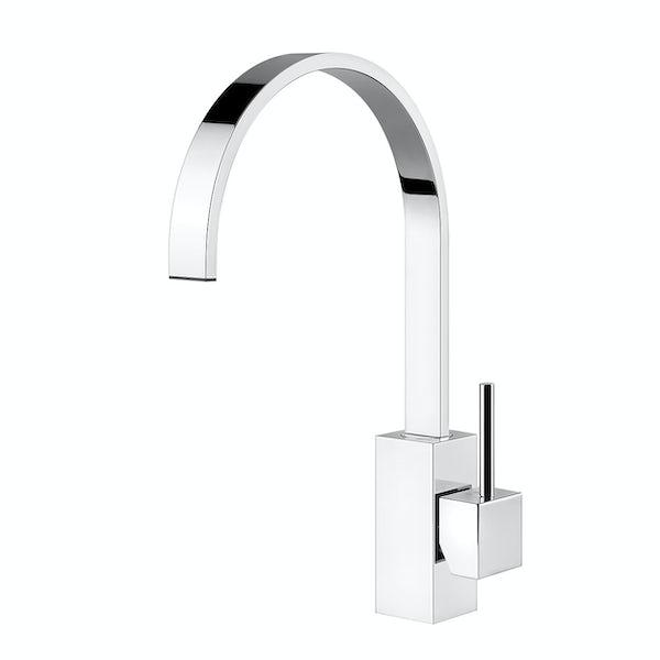 Tuscan Parrina chrome kitchen tap