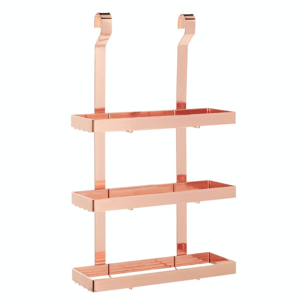 Hanging 3 tier shelf unit in rose gold