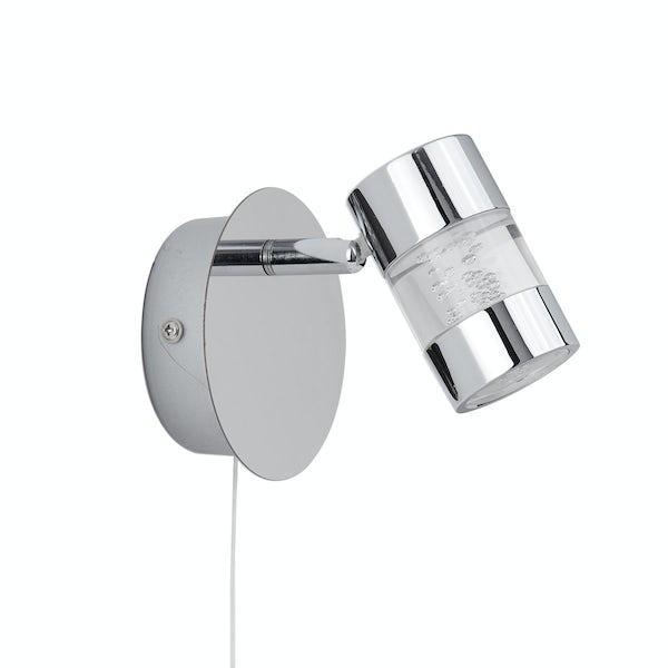 Searchlight Bubbles effect bathroom wall light