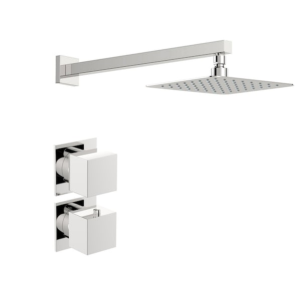 Mode Cooper thermostatic shower valve with wall shower set