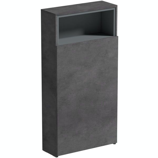 Mode Tate II riven grey back to wall toilet unit 550mm