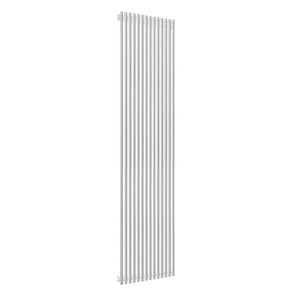 Reina Tubes white single steel designer radiator 1800 x 350mm