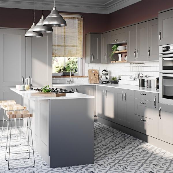 Schon New England light grey shaker 600mm single oven housing unit