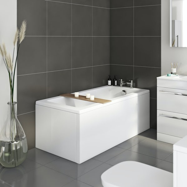 Orchard square edge single ended straight bath 1400 x 700 new