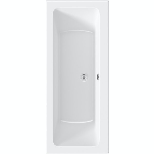 Orchard square edge double ended reinforced bath 1700 x 700