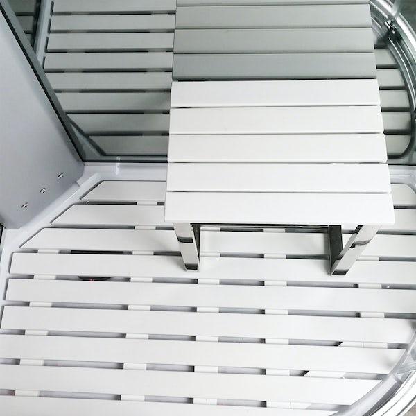 Insignia Platinum offset quadrant right handed steam shower cabin