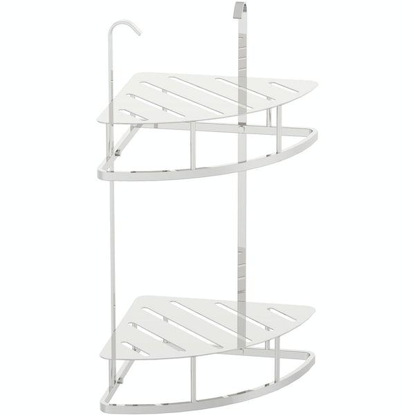 Accents contemporary double corner soap basket