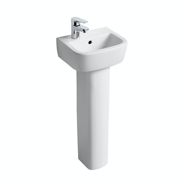 Ideal Standard Tempo 1 tap hole left handed full pedestal basin 350mm