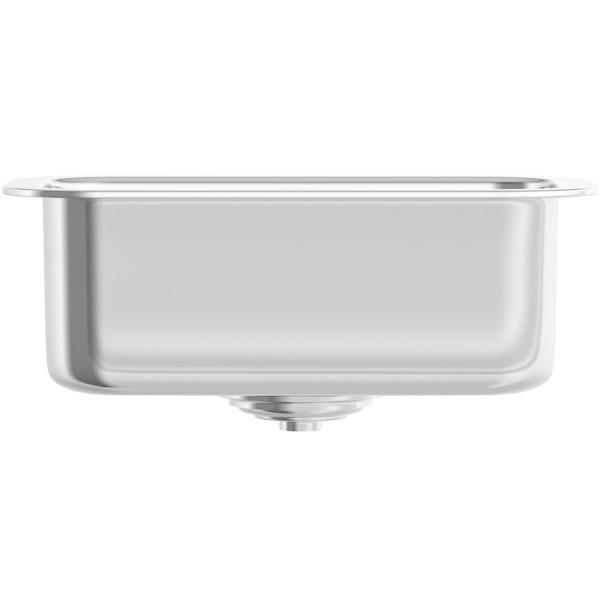 Tuscan Florence stainless steel 0.5 bowl undermount kitchen sink
