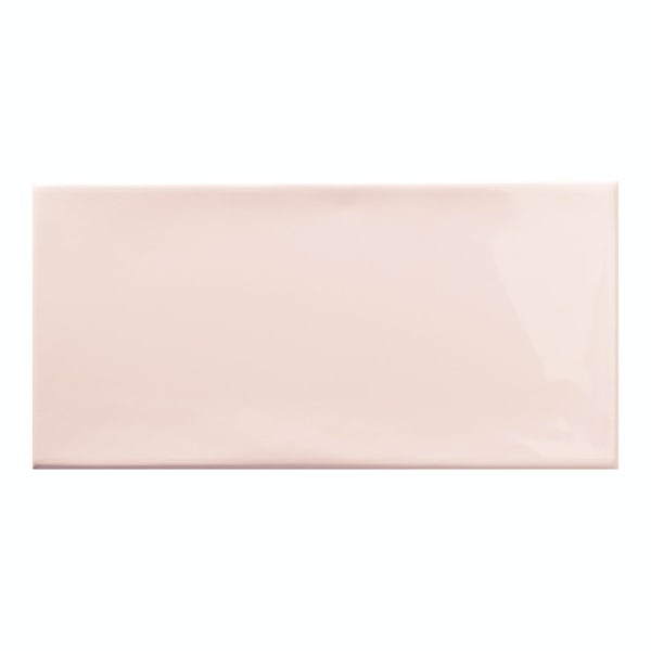 Annecy powder pink gloss wall tile 75mm x 150mm