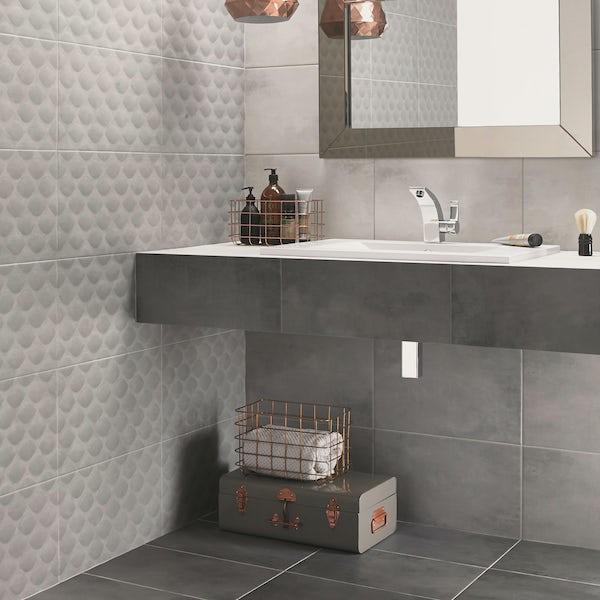 Ted Baker VersaTile light grey matt wall and floor tile 298mm x 498mm
