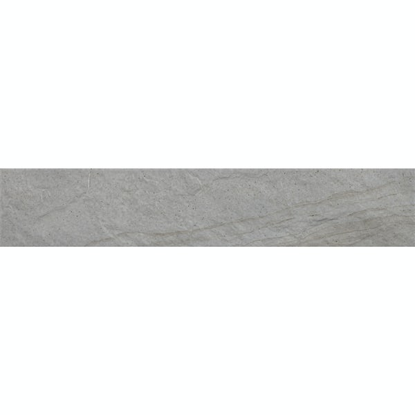 Hago white stone effect matt wall and floor tile 75mm x 385mm