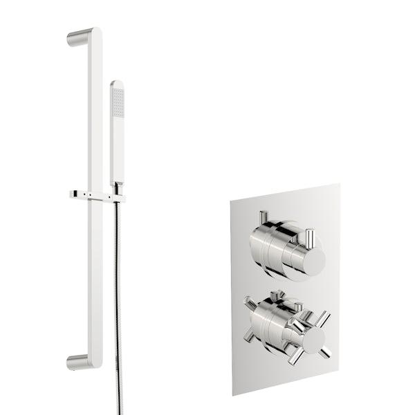 Mode Tate thermostatic shower valve with slider rail kit